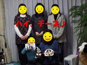 ハイジ似顔絵ケーキと記念撮影♪