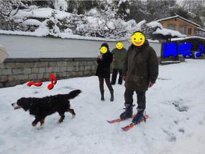雪遊びを満喫♪